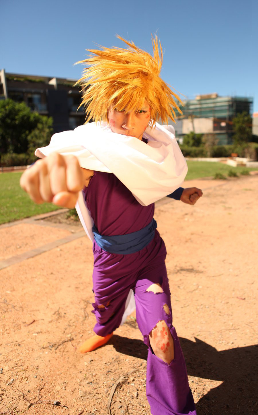 Dragonball Z: Gohan In Battle by RaikouCos
