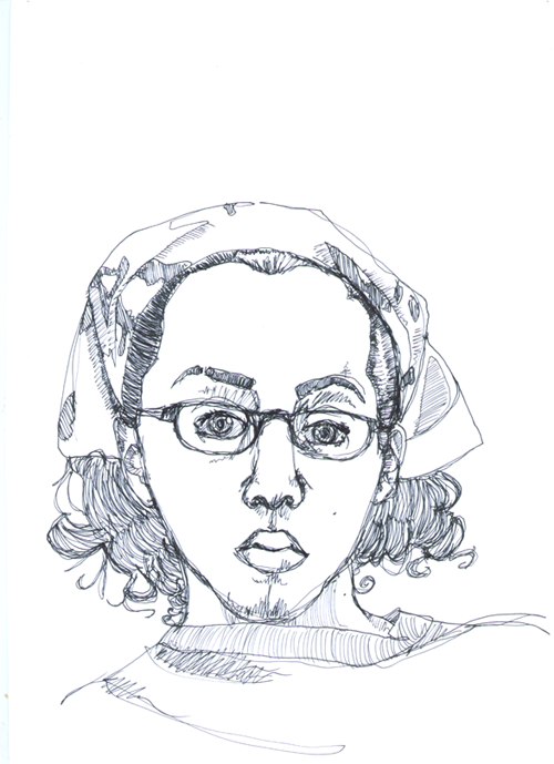 Line Drawing Portrait : Self portrait continuous line by boggart on deviantart