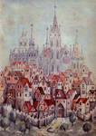 medieval town by trancerbg