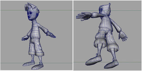 Skater Char Wireframe by MonsterIsland