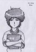 Girl with a sketchbook by jarnik84