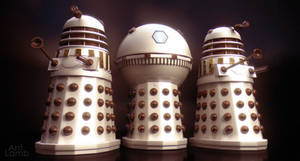 Imperial Daleks with Emperor