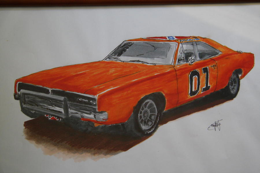 how to draw general lee car. Black Bedroom Furniture Sets. Home Design Ideas