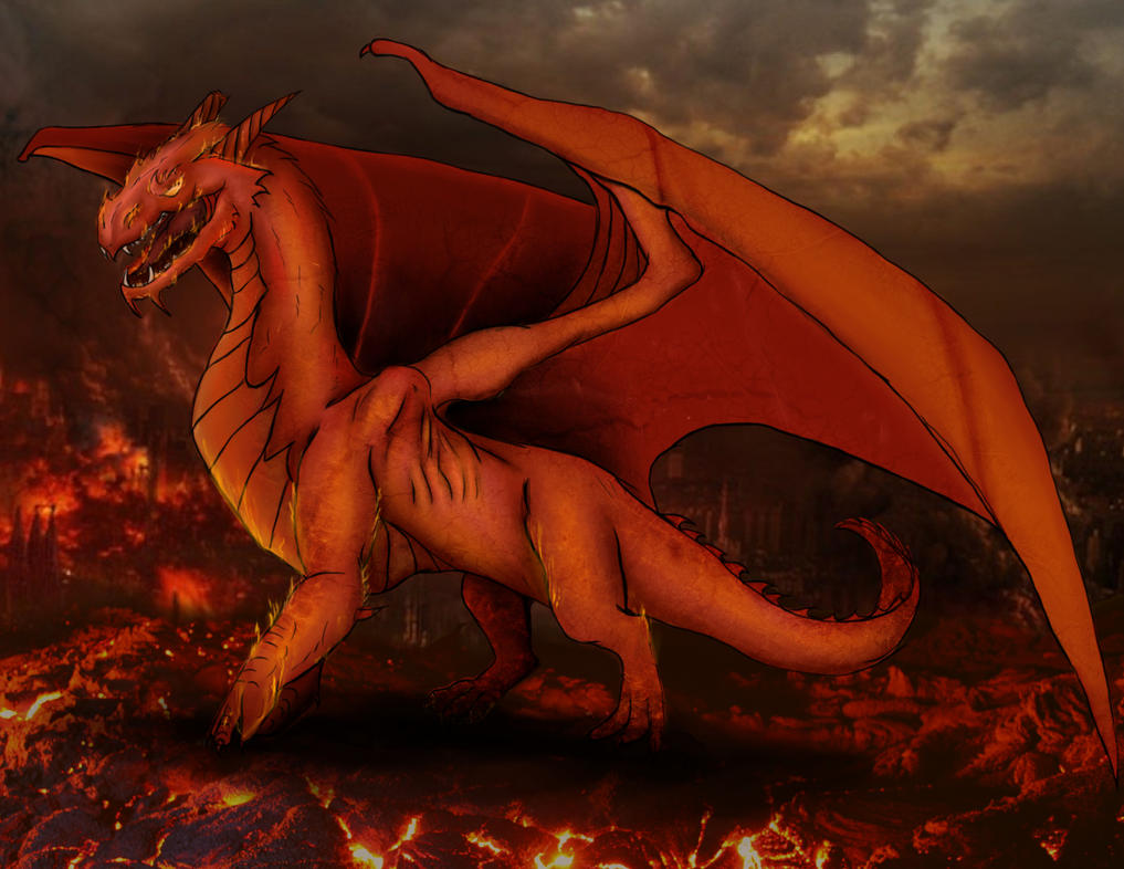 Ancient Red Dragon by Patatje36