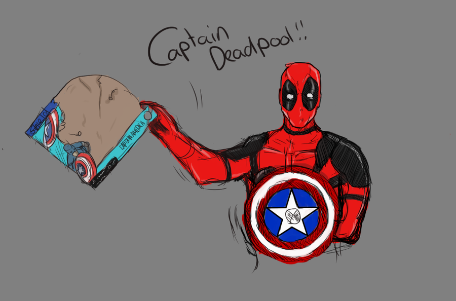 WIP Captain Deadpool by Patatje36