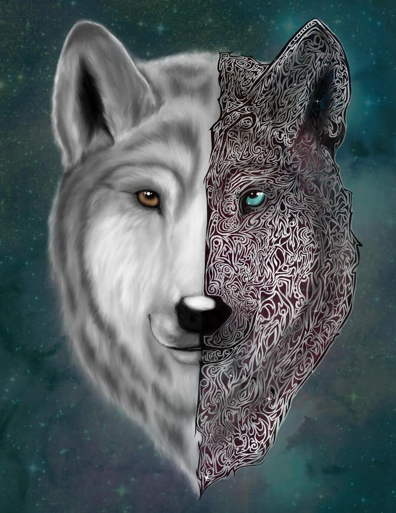 Galaxy Wolf by Patatje36