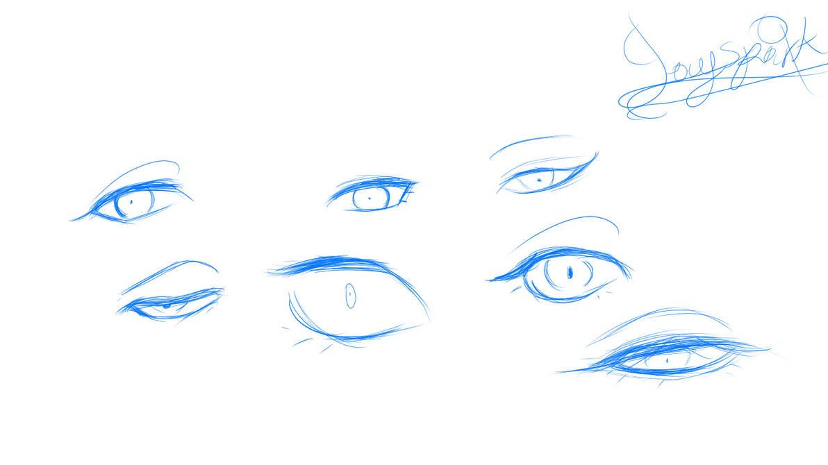Digital Sketching - Eyes by BlueStylArt