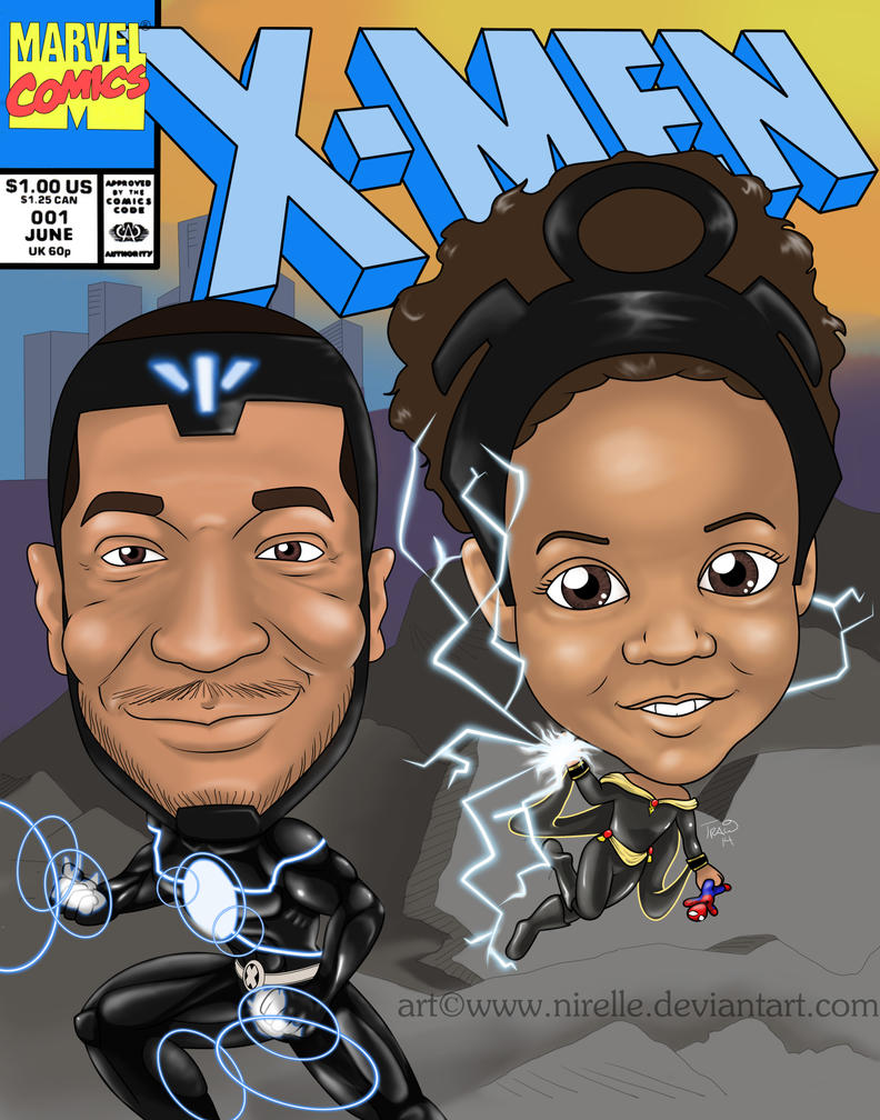 Havok and Storm by nirelle