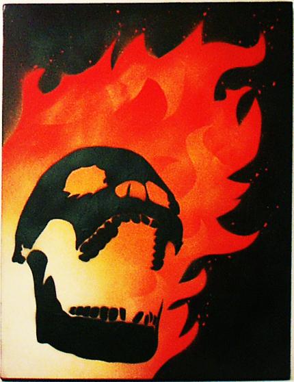 Flaming Skull by n8p