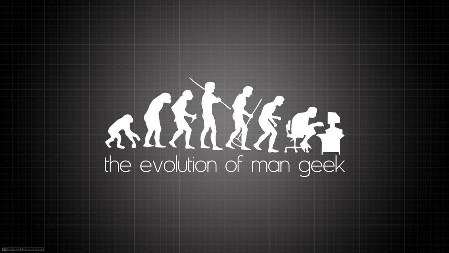 The Evolution of Man Geek by RamaelK