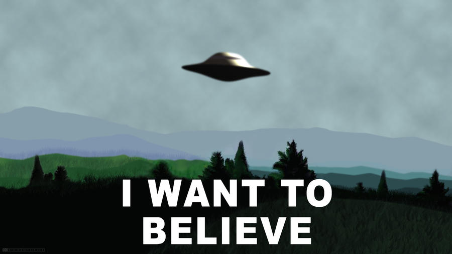 X-Files - I Want To Believe by  X Files I Want To Believe Wallpaper