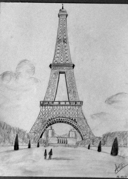 Dibujo De La Torre Eiffel By Misspoint On Deviantart