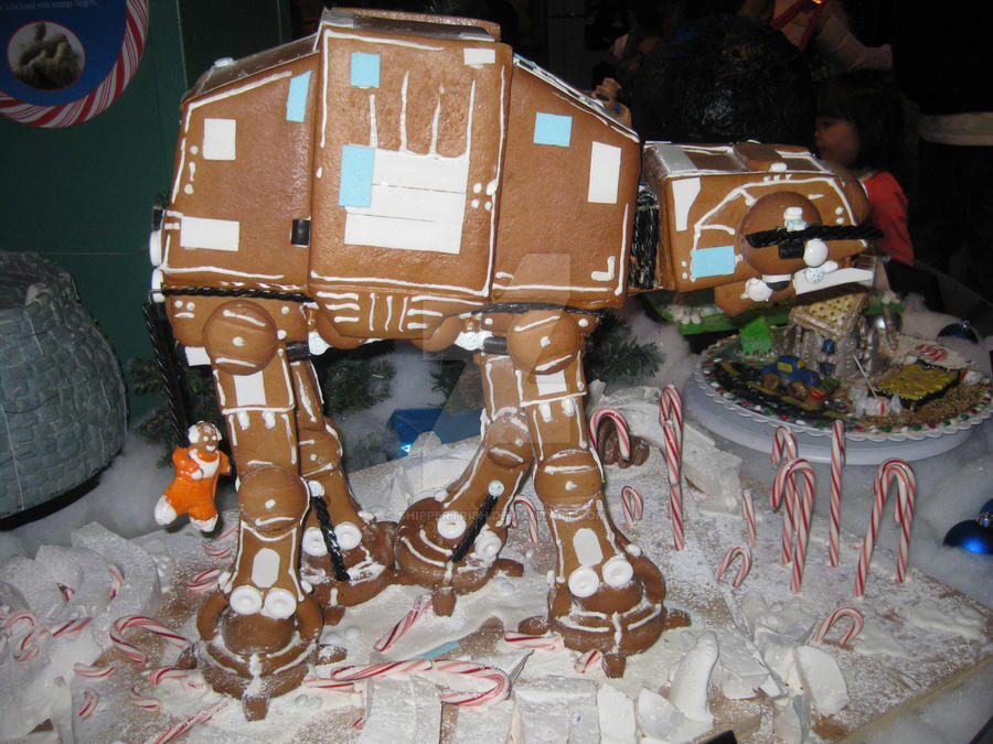 Star Wars Gingerbread At At Walker By Shippertrish On