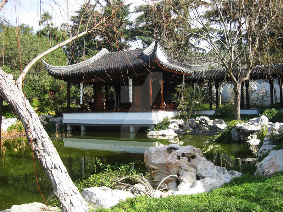Pagoda by the Pond by ShipperTrish