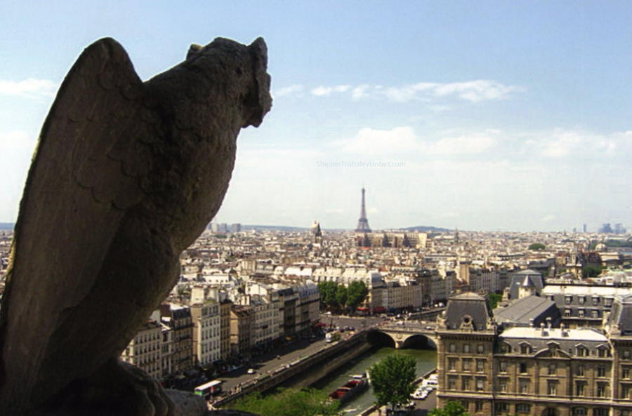 Gargoyle Overlooking Paris by ShipperTrish