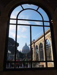 St. Peter's Basilica Through a Window