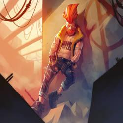 Post apocalyptic Punk Daddy by ArtofVliir