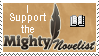 Mighty Novelist P. Anastasia Stamp by Graphix-Goddess