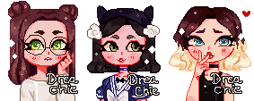 Pixel Icons Commissions [August] by Dreachie