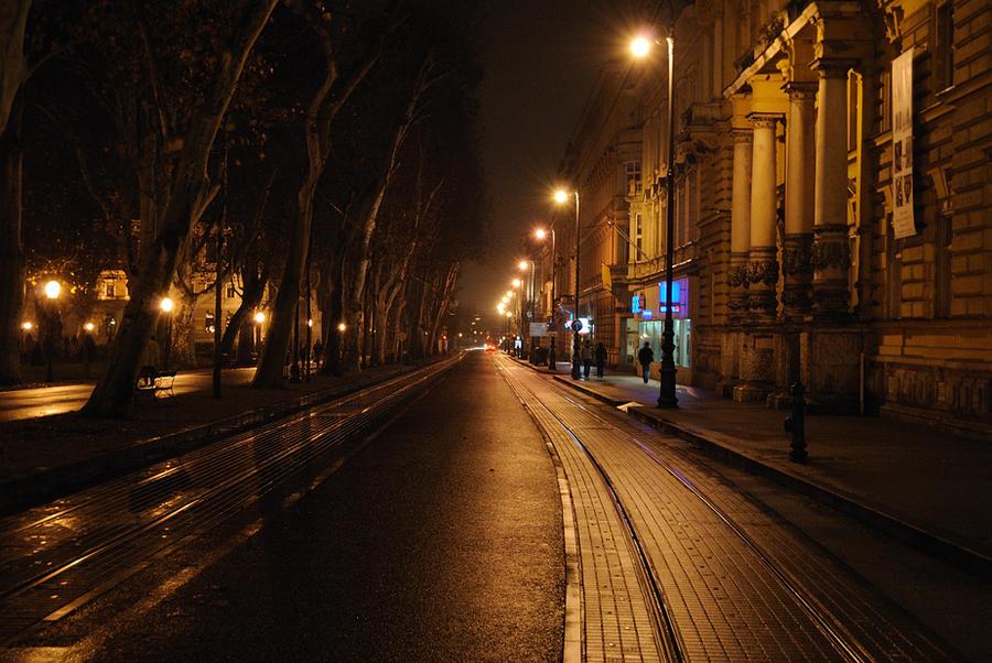 Image Gallery rainy city