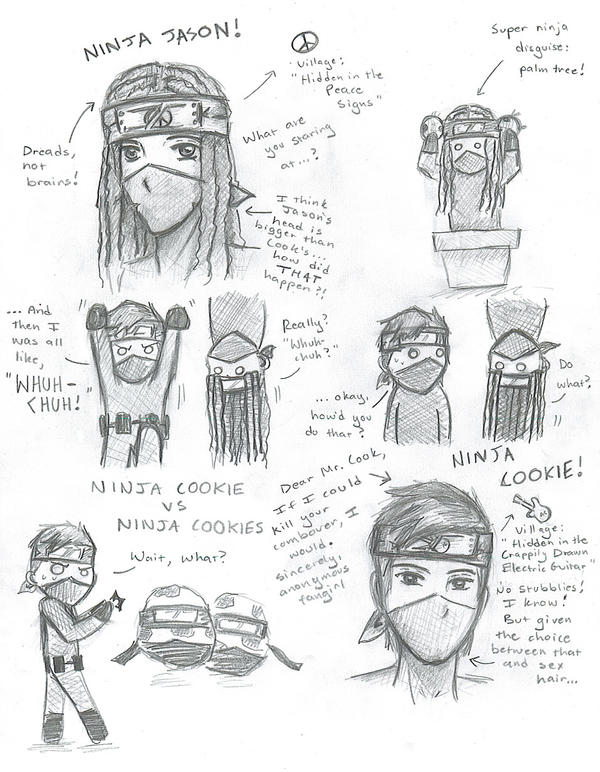 Ninja Jason and Ninja Cookie by Labbess