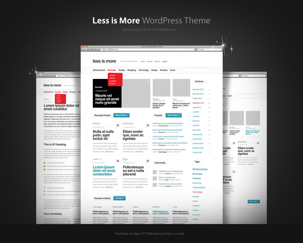 Less is More WordPress Theme by kac2or