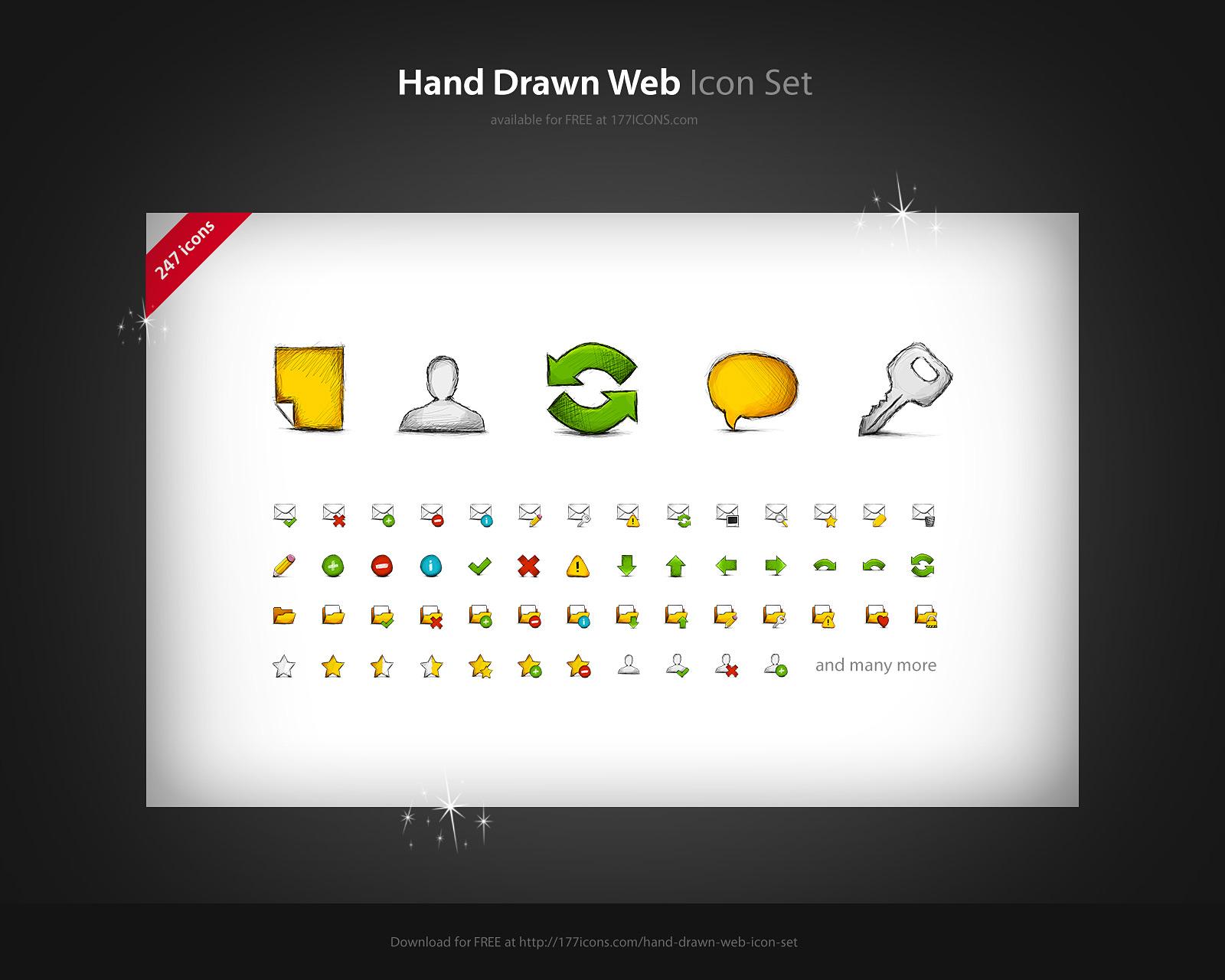 Hand Drawn Web FREE icon set by kac2or