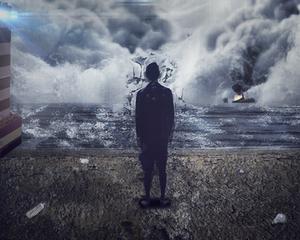 Dark Seas: Mixed Media Project