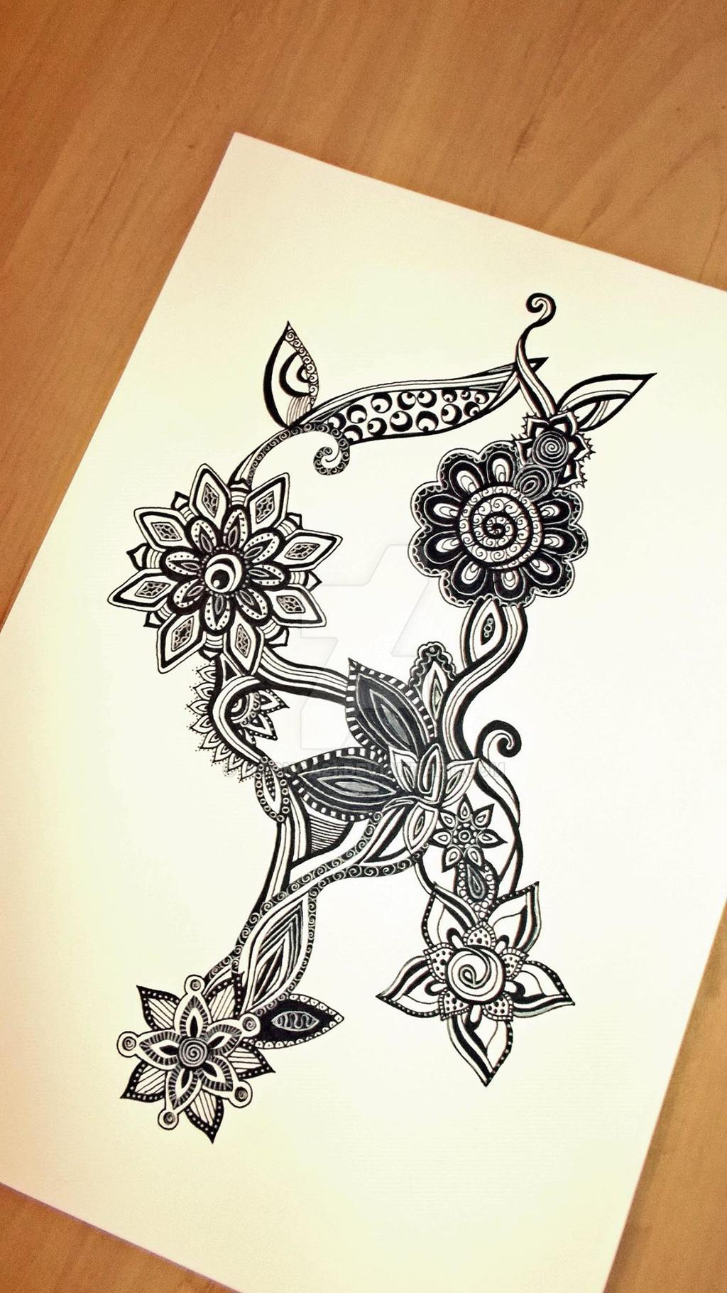 Zentangle Flowers by Moonca21 on DeviantArt