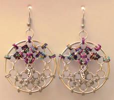 Dreamcatcher Web Earrings by Ginkage