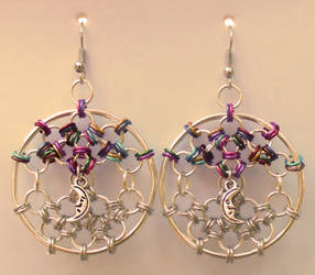 Dreamcatcher Web Earrings by Ginkage