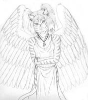 Ceridwen - Feline form by Ginkage