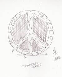 Sketchavember 11/8/16 - Shattered Peace by Ginkage