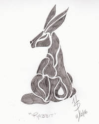 Sketchavember 11/12/16 - Rabbit by Ginkage