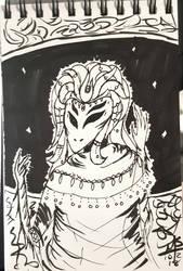 Inktober Day 2 - The Alien Empress