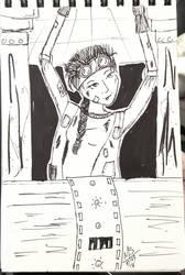 Inktober Day 3 - The Engineer Girl