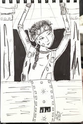 Inktober Day 3 - The Engineer Girl  by Ginkage