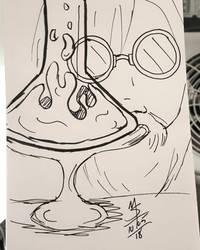 Inktober Day 5 - The Old Scientist