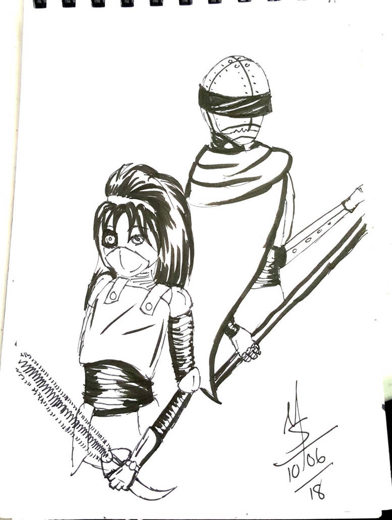 Inktober Day 6 - The Bounty Hunters  by Ginkage