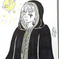 Inktober Day 8 - The Space Priest