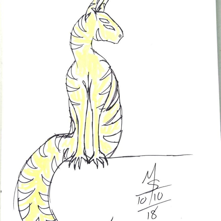 Inktober Day 10 - The Alien Cat  by Ginkage