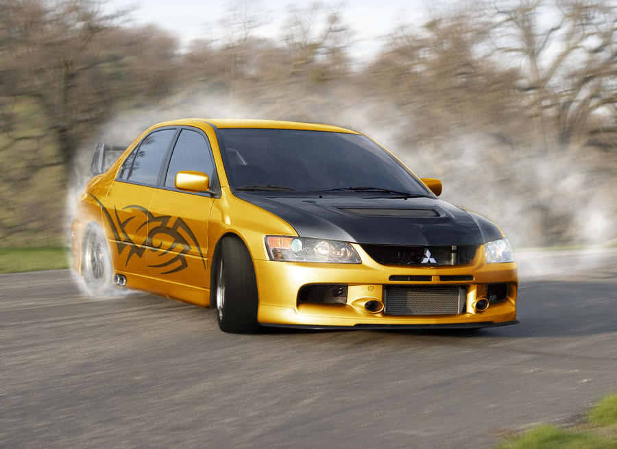 Mistubishi Lancer Evo IX Drift HD Wallpaper > Mistubishi Lancer Wallpaper 1600