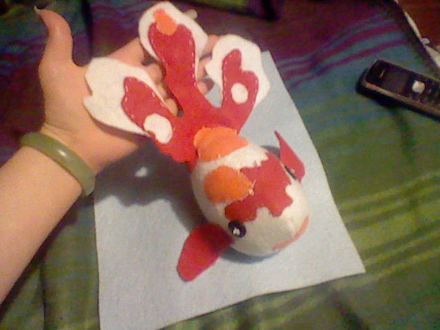 Goldfish stuffed animal by daenerys240 on deviantart for Koi fish plush