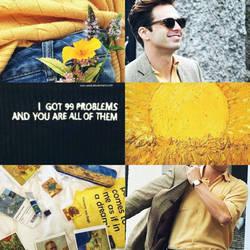 Sebastian Stan yellow aesthetic by Mrs-Reed