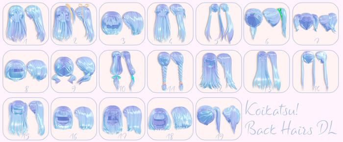 MMD Koikatsu Back Hair Download