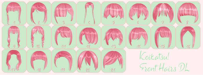 MMD Koikatsu Front Hairs DL