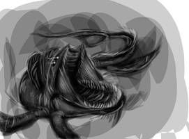 Sea Monster by half-rose