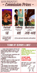 PRICE LIST - COMMISSION ARE OPEN by kozi-te