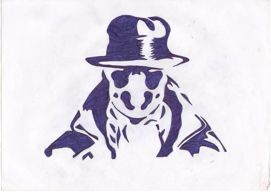 V For Vendetta Mask Stencil Rorschach stencil by