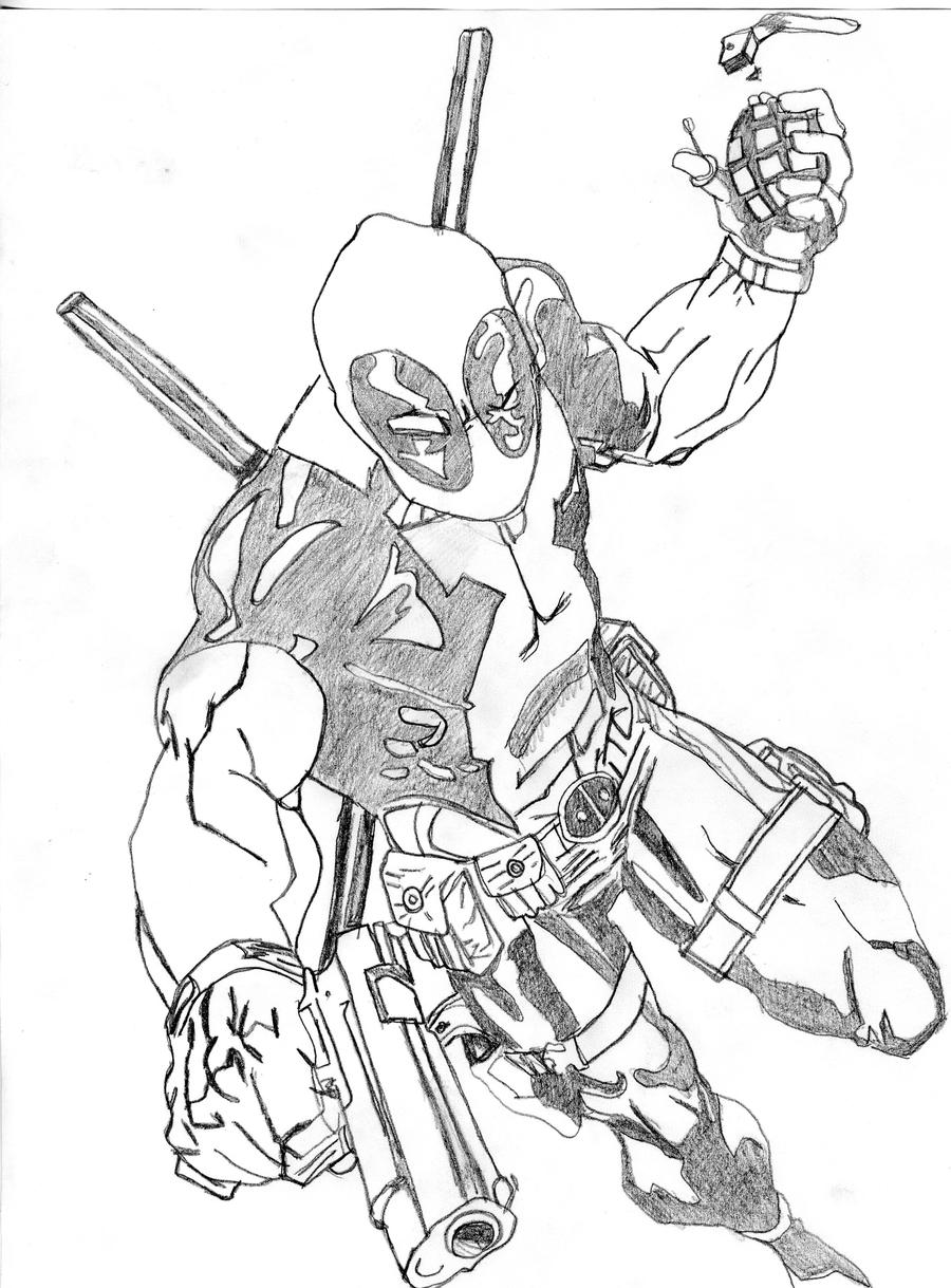 DeadPool by SpikeMcFly on DeviantArtDeadpool Sketch